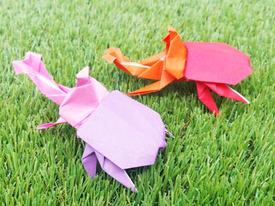 折り紙のカブトムシ